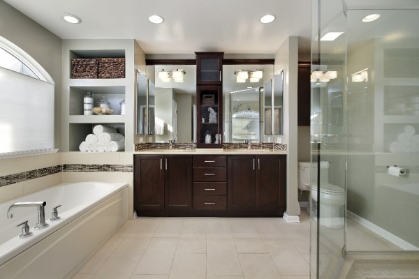 ... Minimalism: The massive master bathroom is still great, but there's  also some appeal in smaller bathroom design. Minimalism allows for smaller  spaces to ...